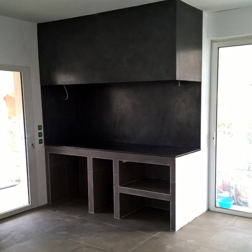 cheminée à foyer ouvert cuisine Toulouse Cheminées iiio 1