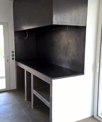 Cheminée à foyer ouvert cuisine Toulouse Cheminées iiio 1c