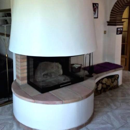 cheminée foyer 3 faces Thermiconfort à Auradé 32 réalisation Cheminées iiio