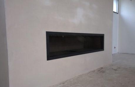 Cheminée de salon à foyer ouvert Toulouse vue 2 réalisation Cheminées iiio