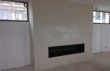 cheminée de salon à foyer ouvert Toulouse - réalisation Cheminées iiio vue 1