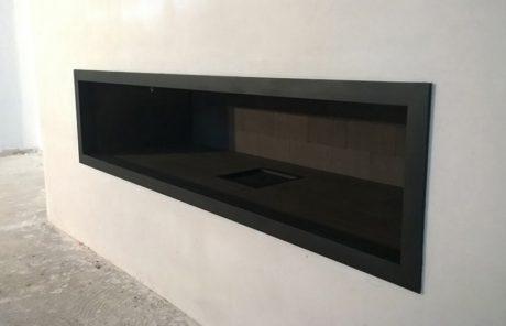 cheminée de salon à foyer ouvert Toulouse réalisation Cheminées iiio vue 3