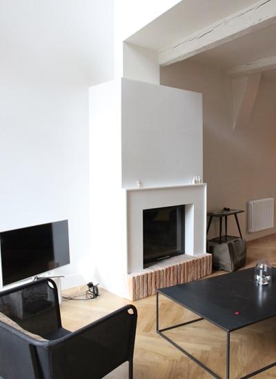 cheminée intemporelle de salon Toulouse Cheminées iiio 1c