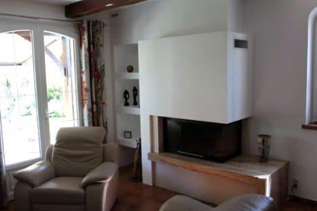 cheminée moderne foyer fermé Thermiconfort Cugnaux - Cheminées iiio Toulouse 1a