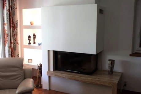 cheminée moderne foyer fermé Thermiconfort Cugnaux - Cheminées iiio Toulouse 1b