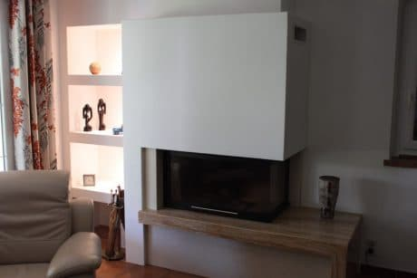 cheminée moderne foyer fermé Thermiconfort Cugnaux - Cheminées iiio Toulouse 1c