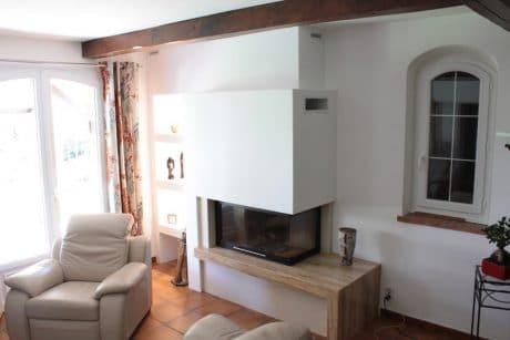 cheminée moderne foyer fermé Thermiconfort Cugnaux - Cheminées iiio Toulouse 1d