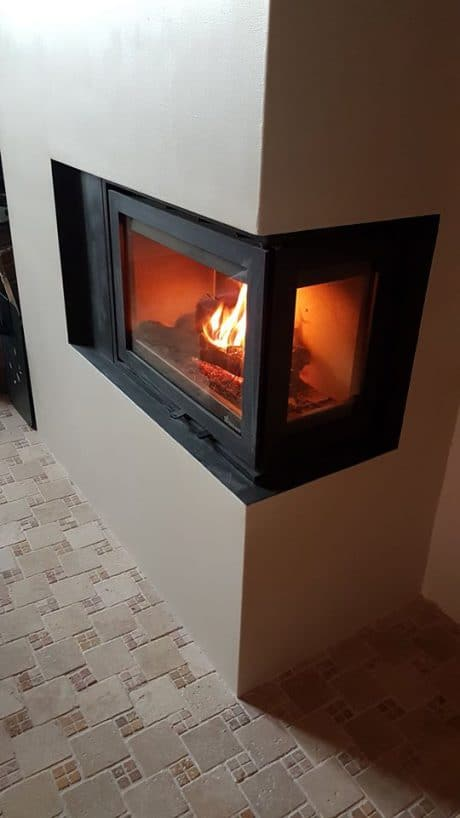 Insert Fonte Flamme Instyle Corner